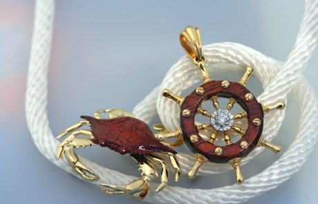 Mark Edwards Crab Ship Wheel
